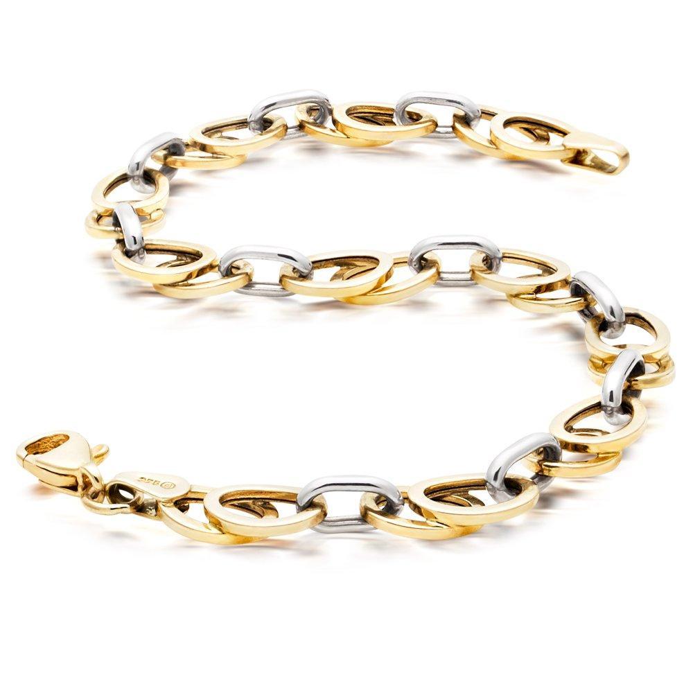 9ct Two Coloured Gold Bracelet - 19cm