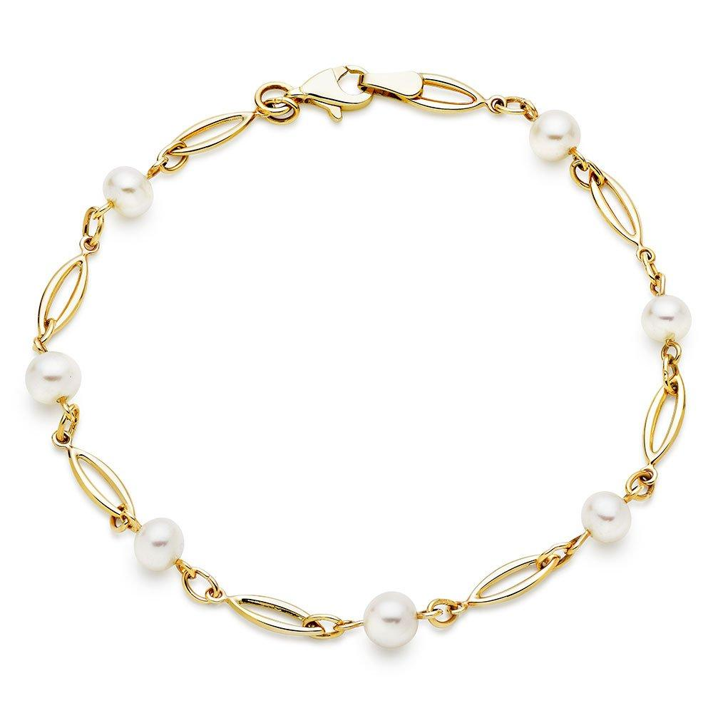 9ct Gold Freshwater Cultured Pearl Bracelet