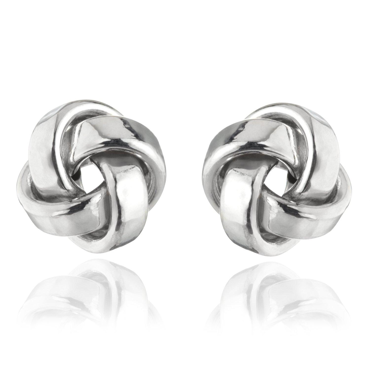 9ct White Gold Stud Earrings