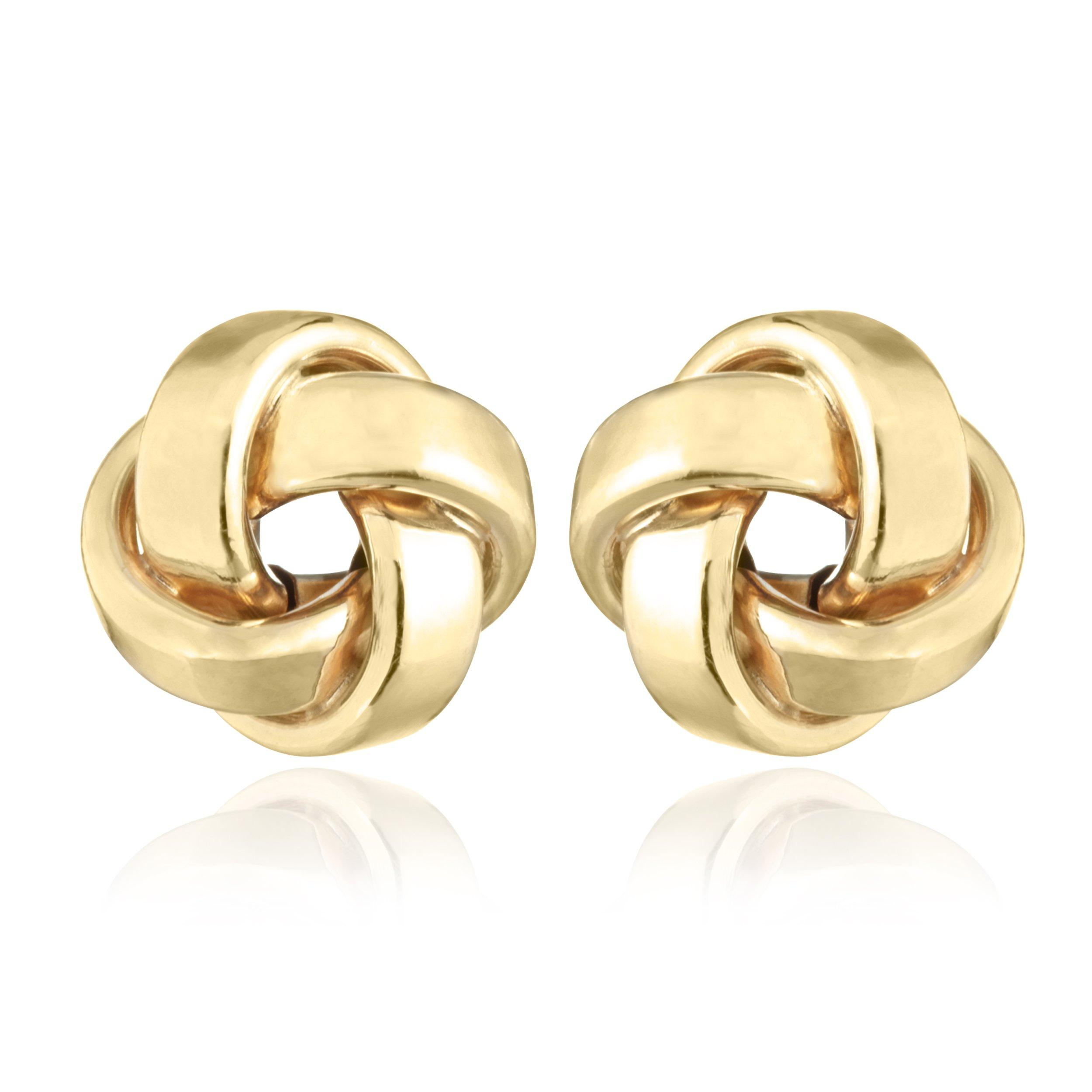 9ct Gold Knot Stud Earrings