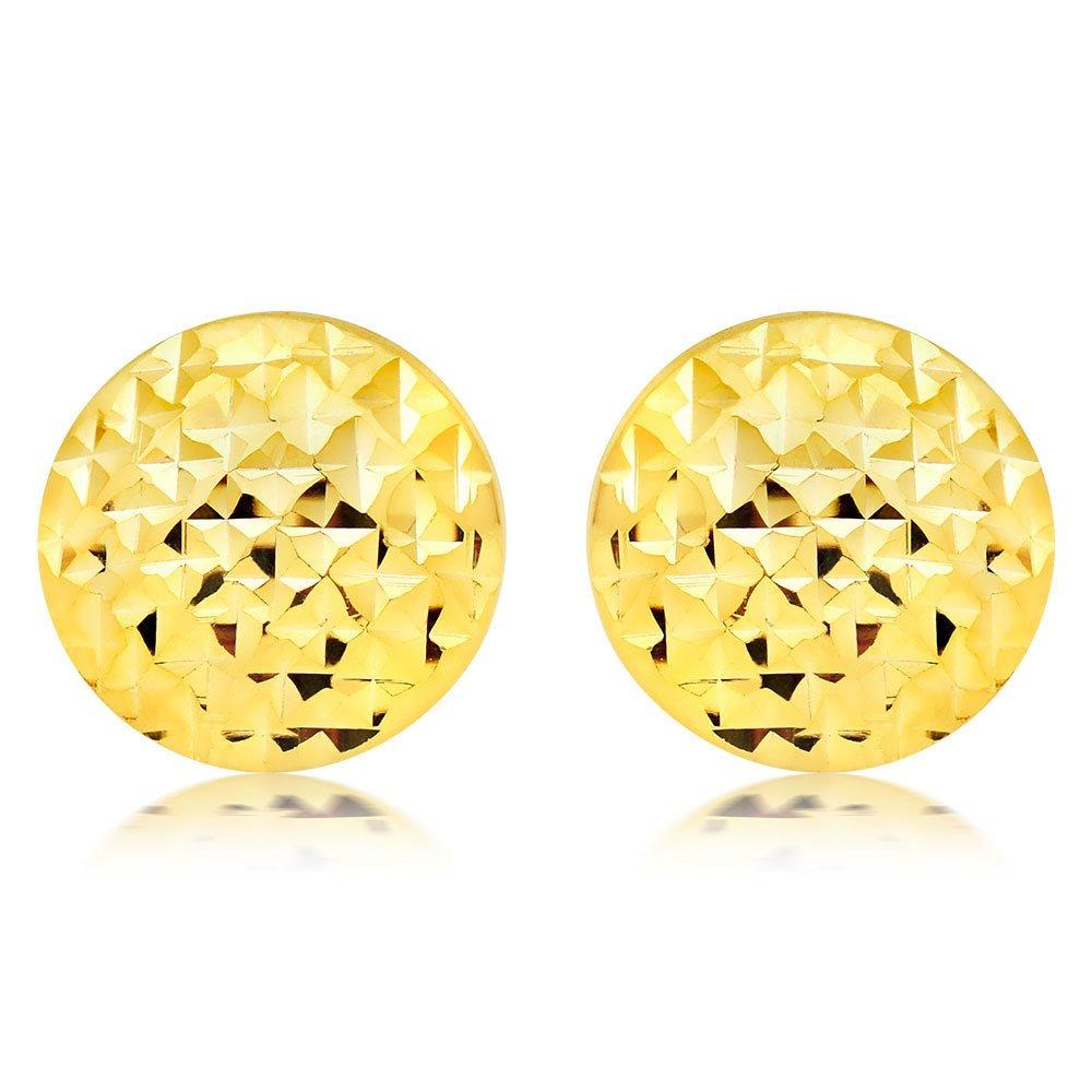 9ct Gold Circle Stud Earrings