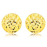 9ct Gold Circle Stud Earrings