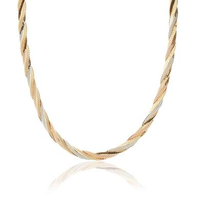 9ct Multi Coloured Gold Necklace - 45cm