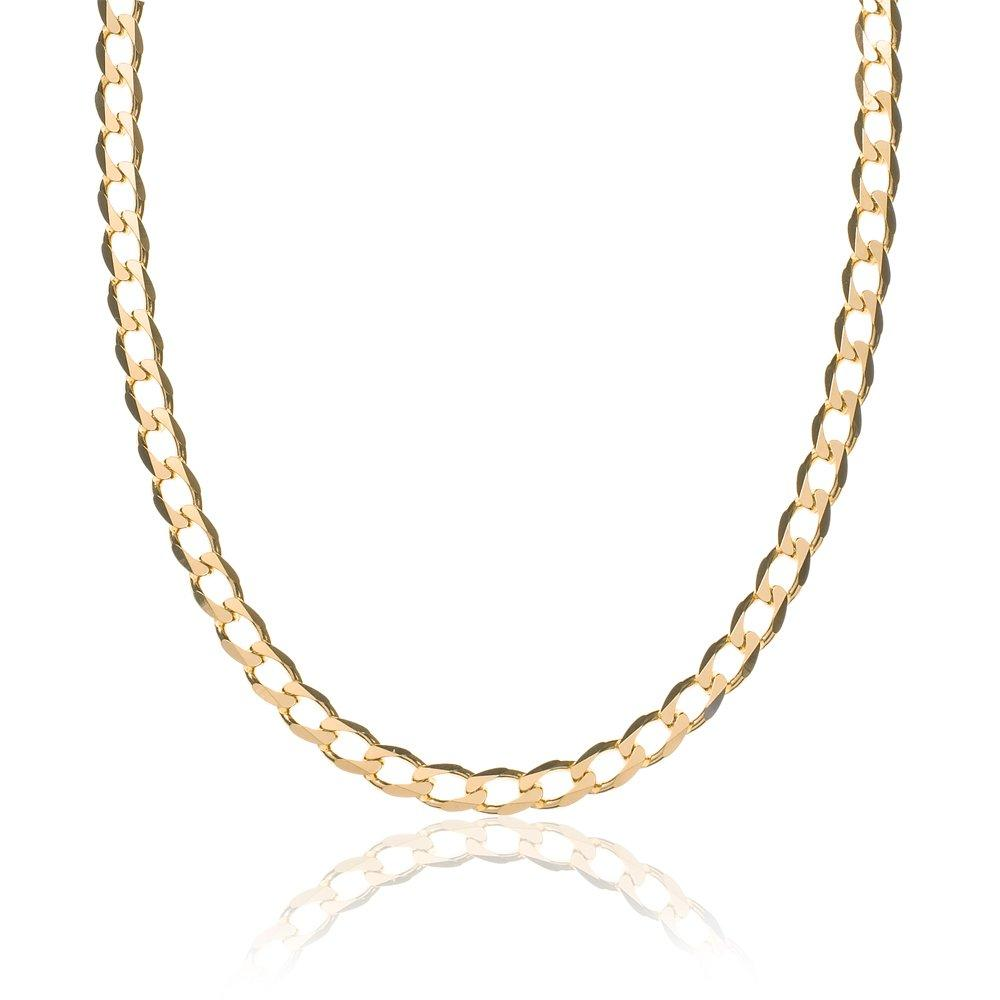 9ct Gold Curb Chain 50cm