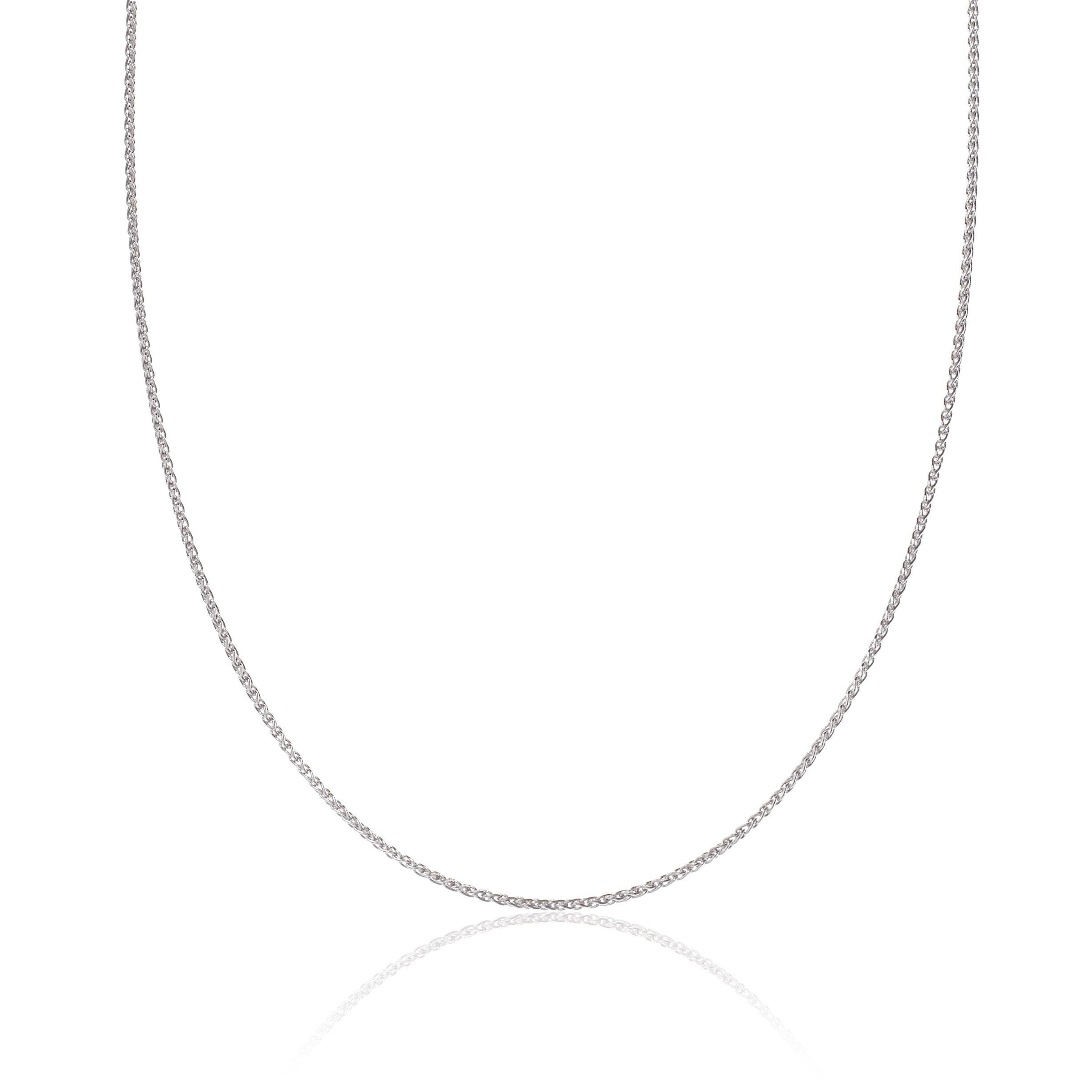 9ct White Gold Spiga Chain