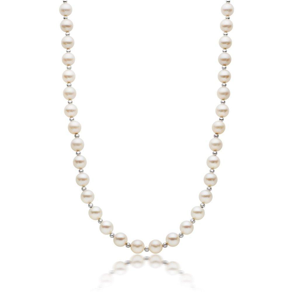 9ct White Gold Freshwater Cultured Pearl Necklace