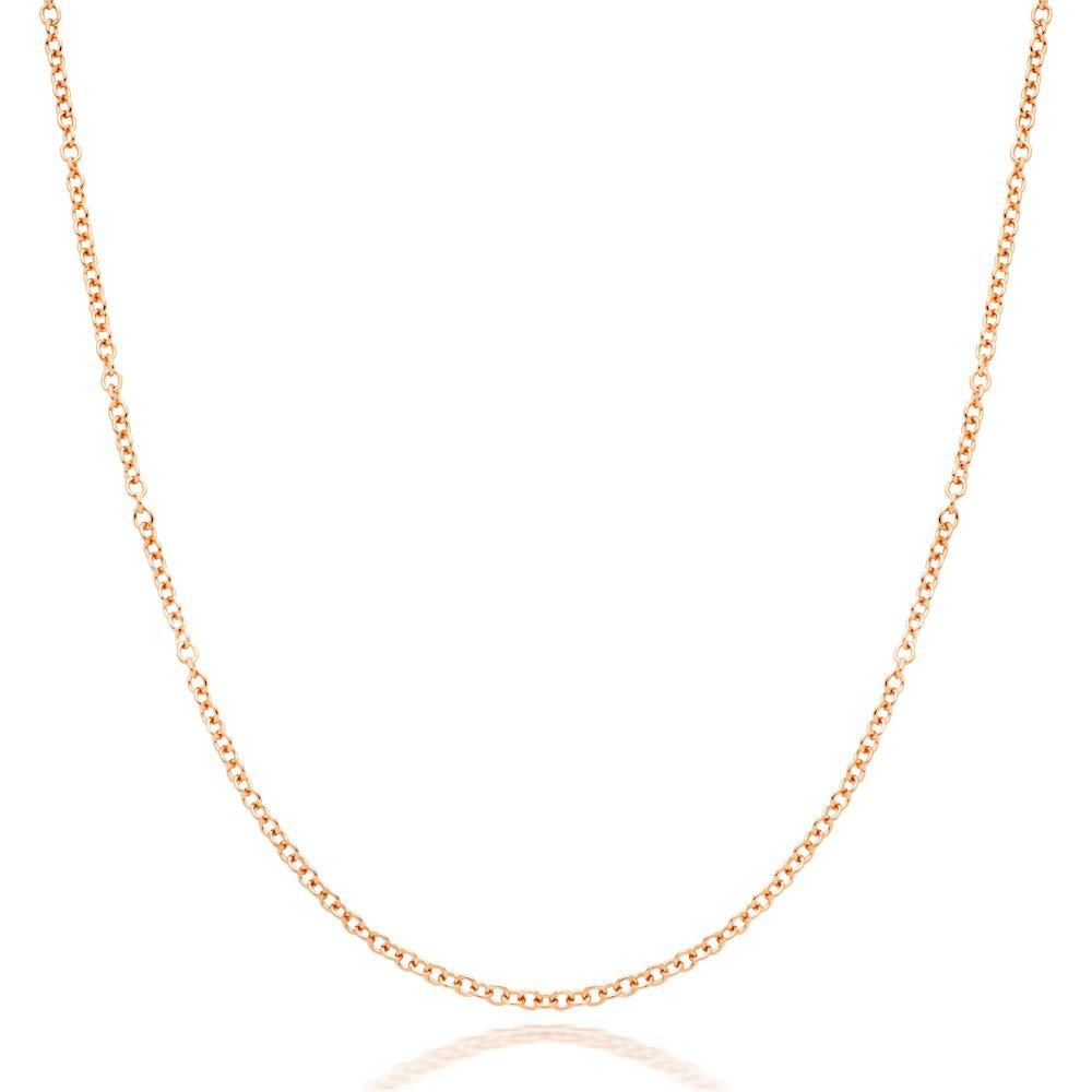 9ct Rose Gold Trace Chain 45cm