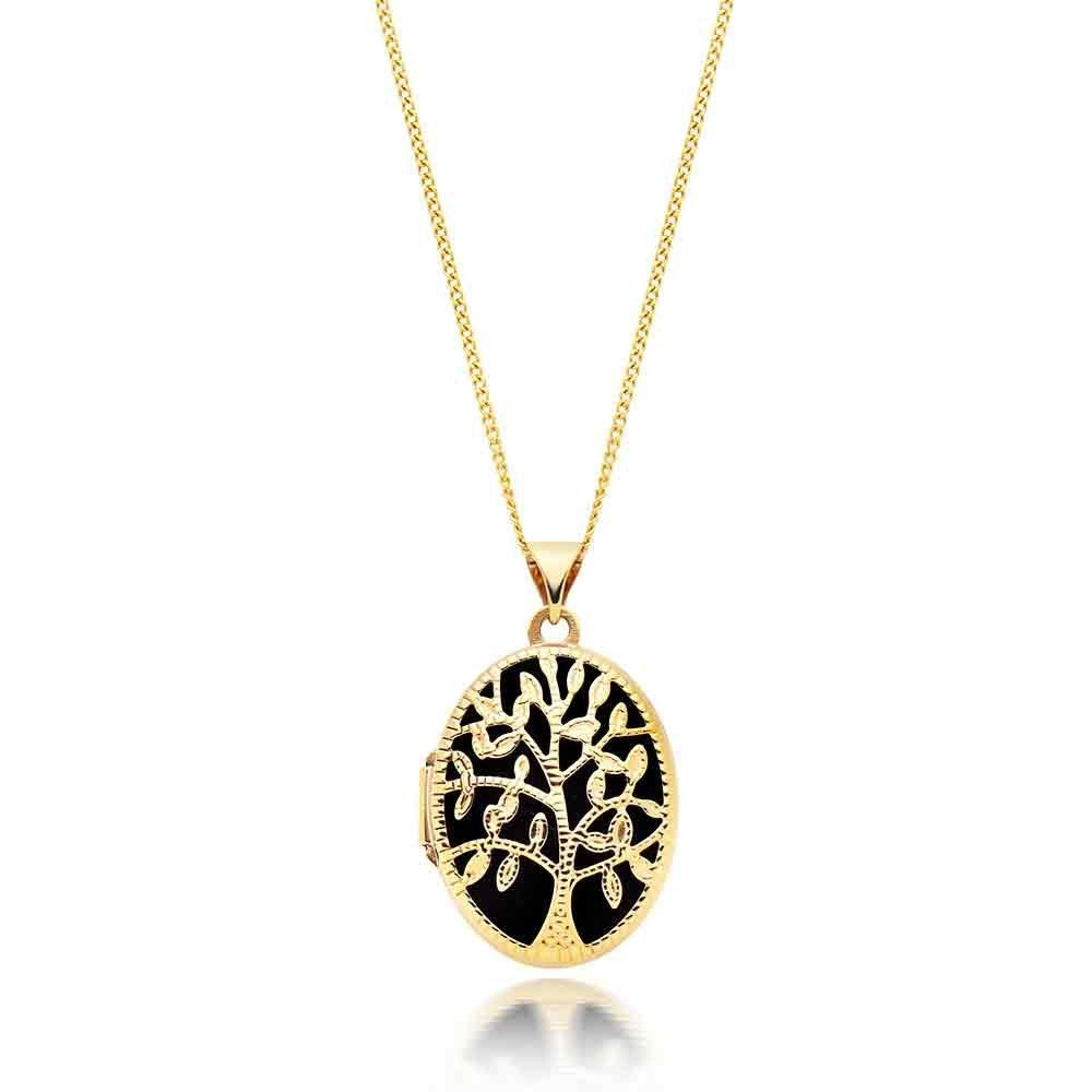 9ct Gold Tree Locket Pendant