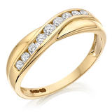 9ct Gold Cubic Zirconia Half Eternity Ring