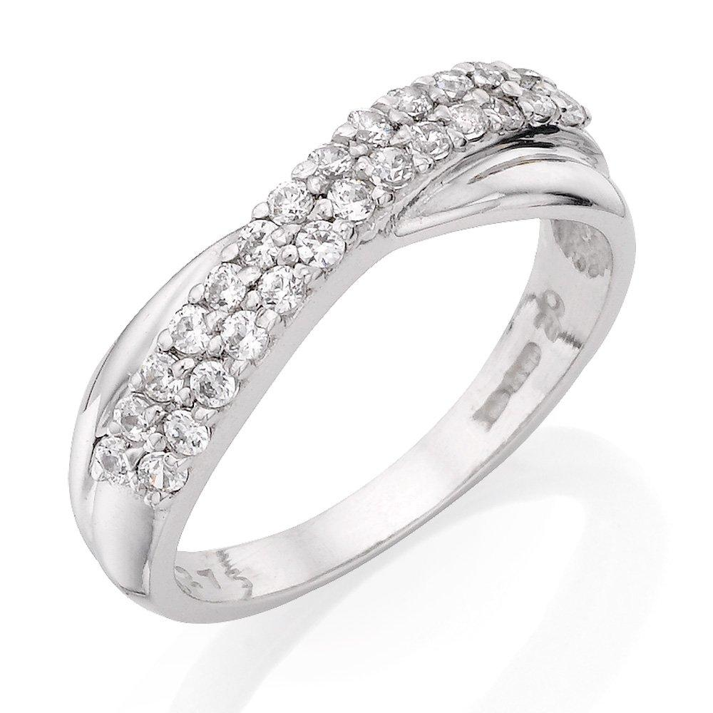 9ct White Gold Cubic Zirconia Half Eternity Ring