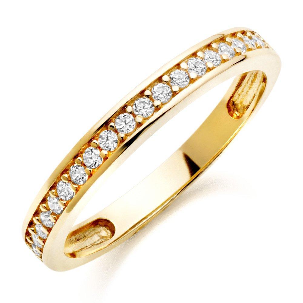 9ct Gold Cubic Zirconia Eternity Ring
