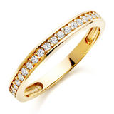 9ct Gold Cubic Zirconia Eternity Ring