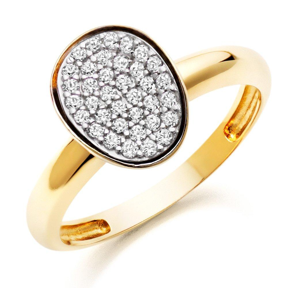 9ct Gold Cubic Zirconia Dress Ring