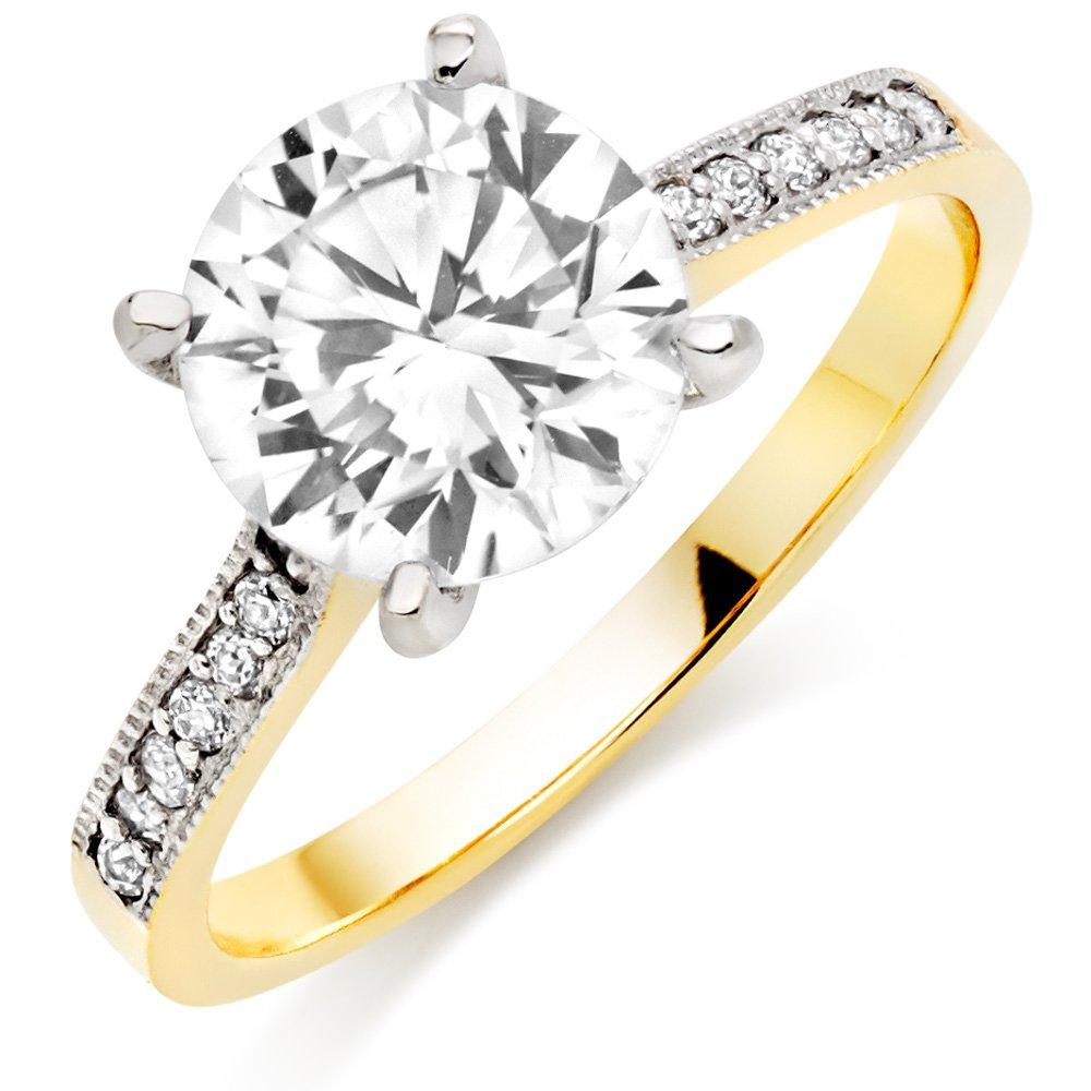 9ct Gold Cubic Zirconia Solitaire Ring