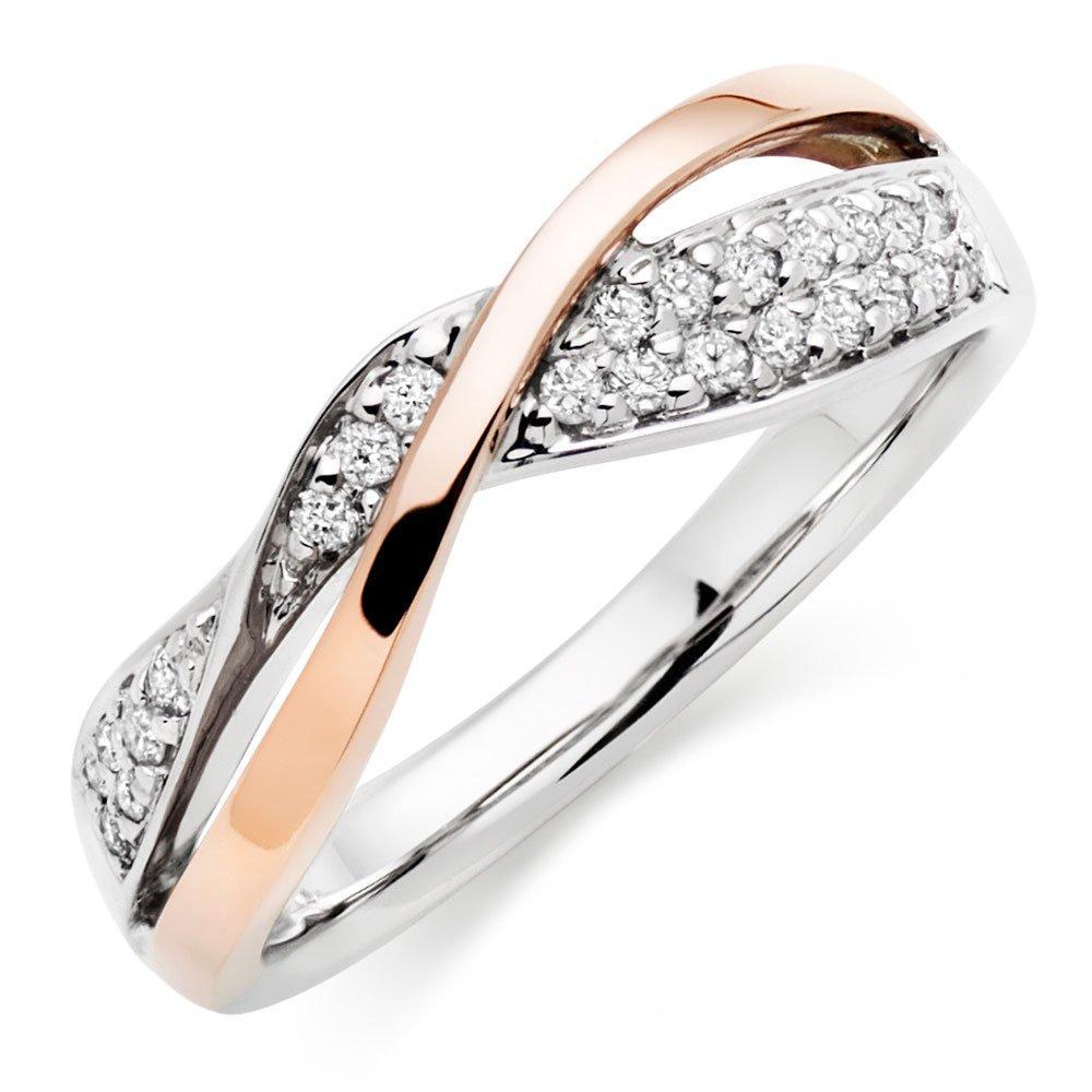 Era 9ct Two Colour Diamond Ring