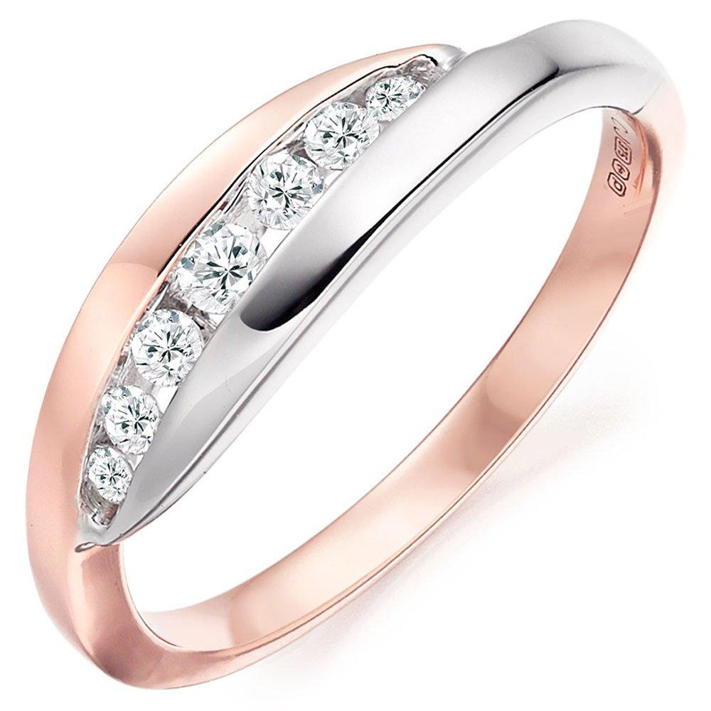 Era Embrace 9ct White Gold and Rose Gold Diamond Ring