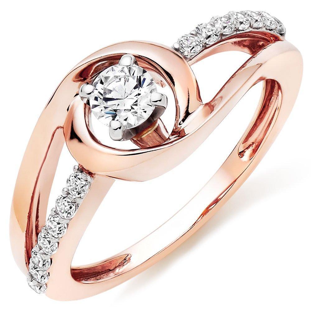 9ct Rose Gold Cubic Zirconia Ring