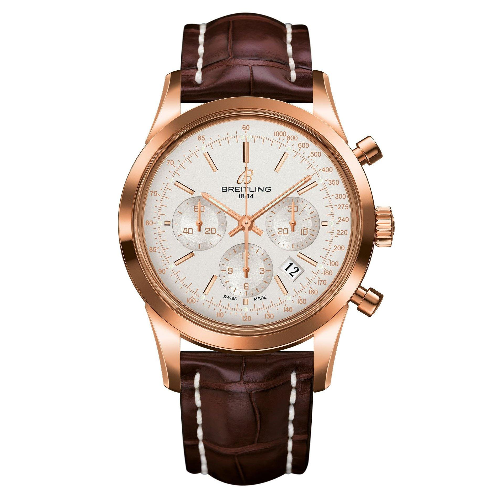 Breitling Transocean 18ct Rose Gold Chronograph Automatic Men's Watch