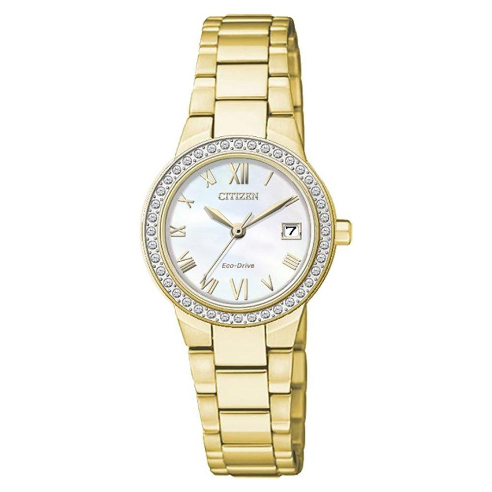 Citizen Silhouette Gold Tone Crystal Eco-Drive Ladies Watch