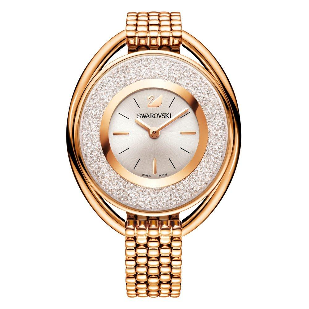 Swarovski Crystalline Rose Gold Tone Crystal Ladies Watch