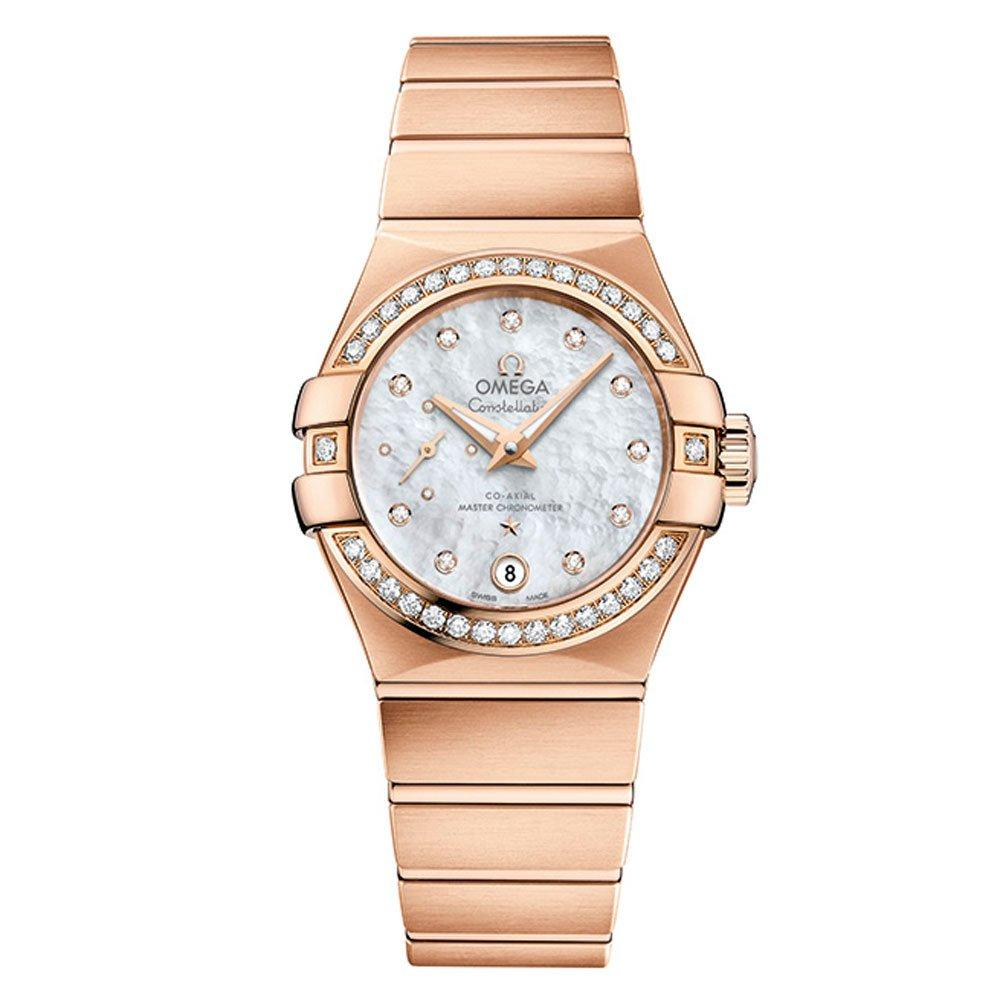 OMEGA Constellation 18ct Rose Gold Diamond Co-Axial Petite Seconde Automatic Ladies Watch