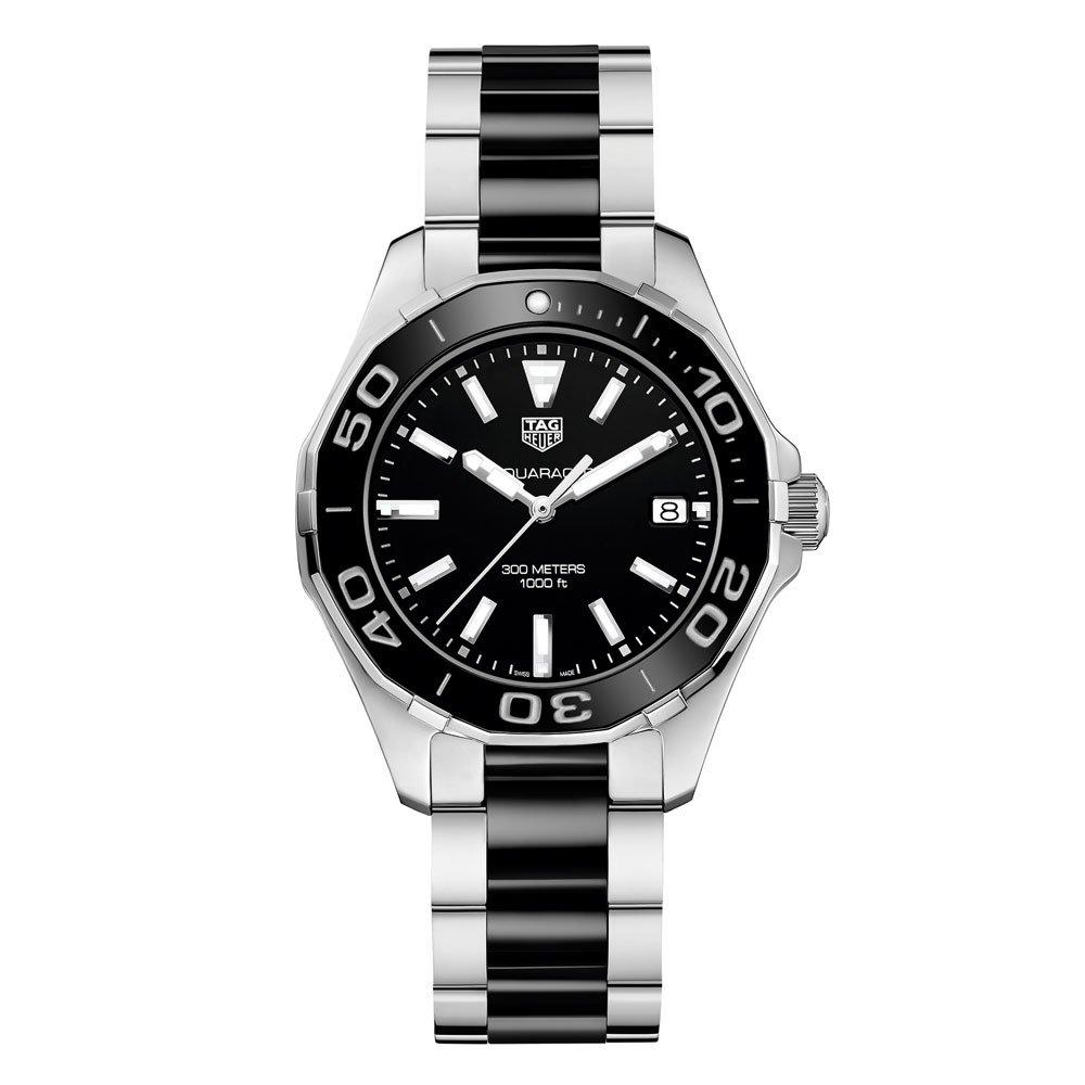 TAG Heuer Aquaracer Stainless Steel And Black Ceramic Ladies Watch