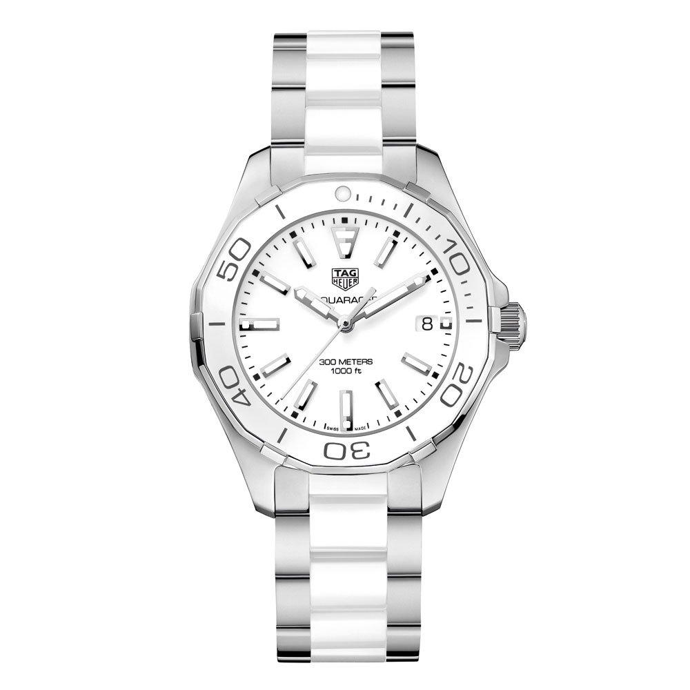 TAG Heuer Aquaracer Stainless Steel And White Ceramic Ladies Watch