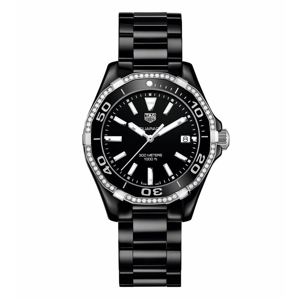 TAG Heuer Aquaracer Black Ceramic Diamond Ladies Watch