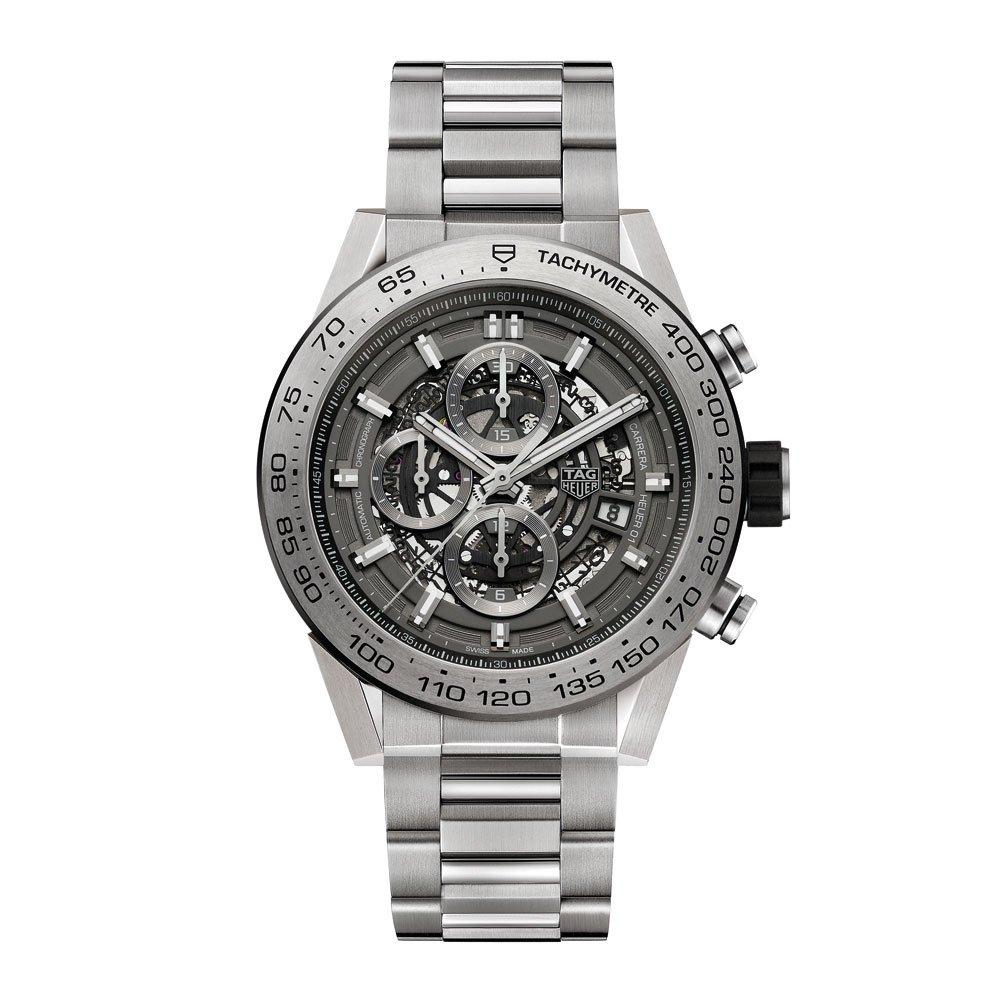 TAG Heuer Carrera Calibre Heuer 01 Grey Phantom Titanium Automatic Chronograph Men's Watch