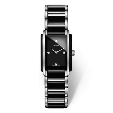 Rado Integral High Tech Ceramic and Stainless Steel Diamond Ladies Watch