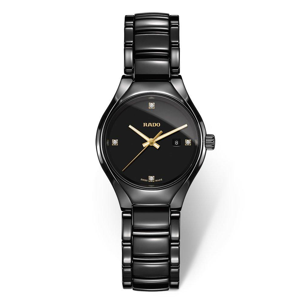Rado True High-Tech Ceramic Diamond Ladies Watch