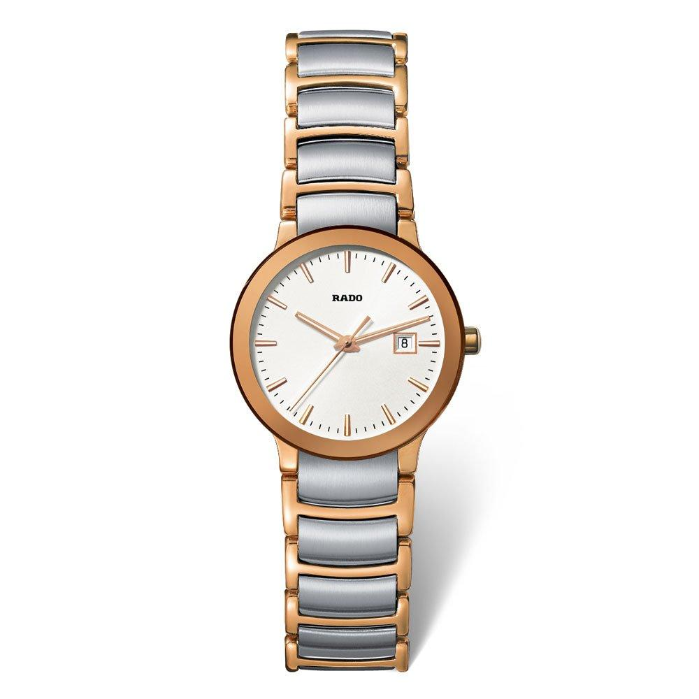 Rado Centrix Gold Tone PVD and Stainless Steel Ladies Watch
