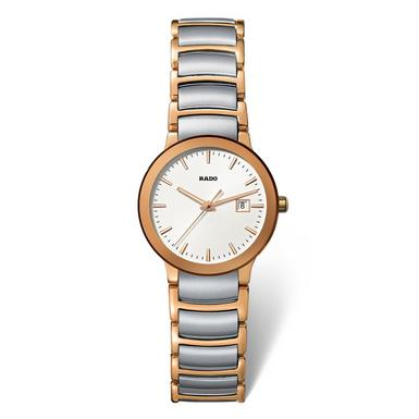 Watch, Women's Swiss Centrix Two Tone Stainless Steel Bracelet 28mm R30555103