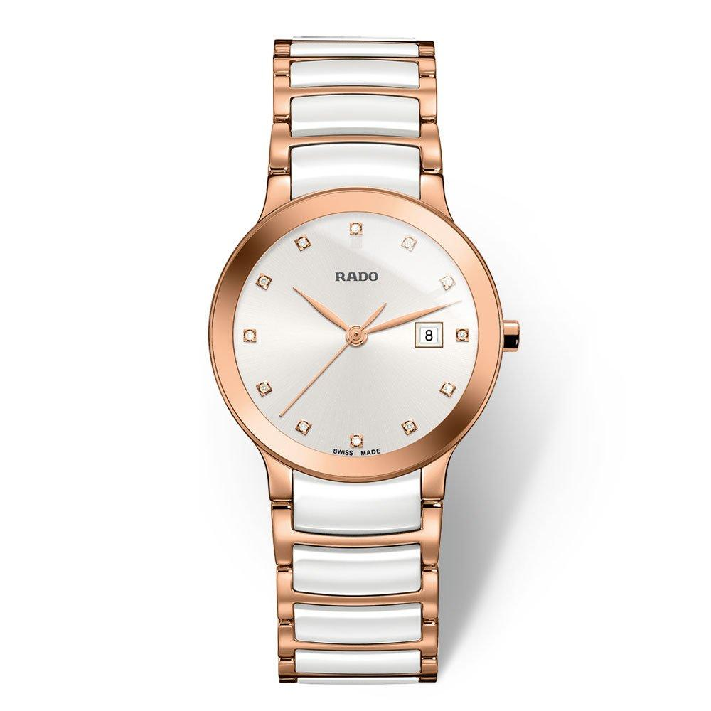 Rado Centrix Rose Gold Tone PVD and High-Tech Ceramic Diamond Ladies Watch