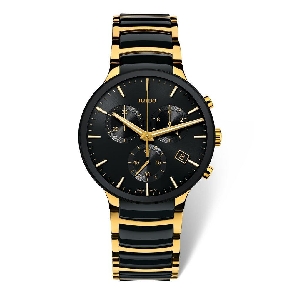 Rado Centrix Gold Tone PVD and High-Tech Ceramic Chronograph Men's Watch