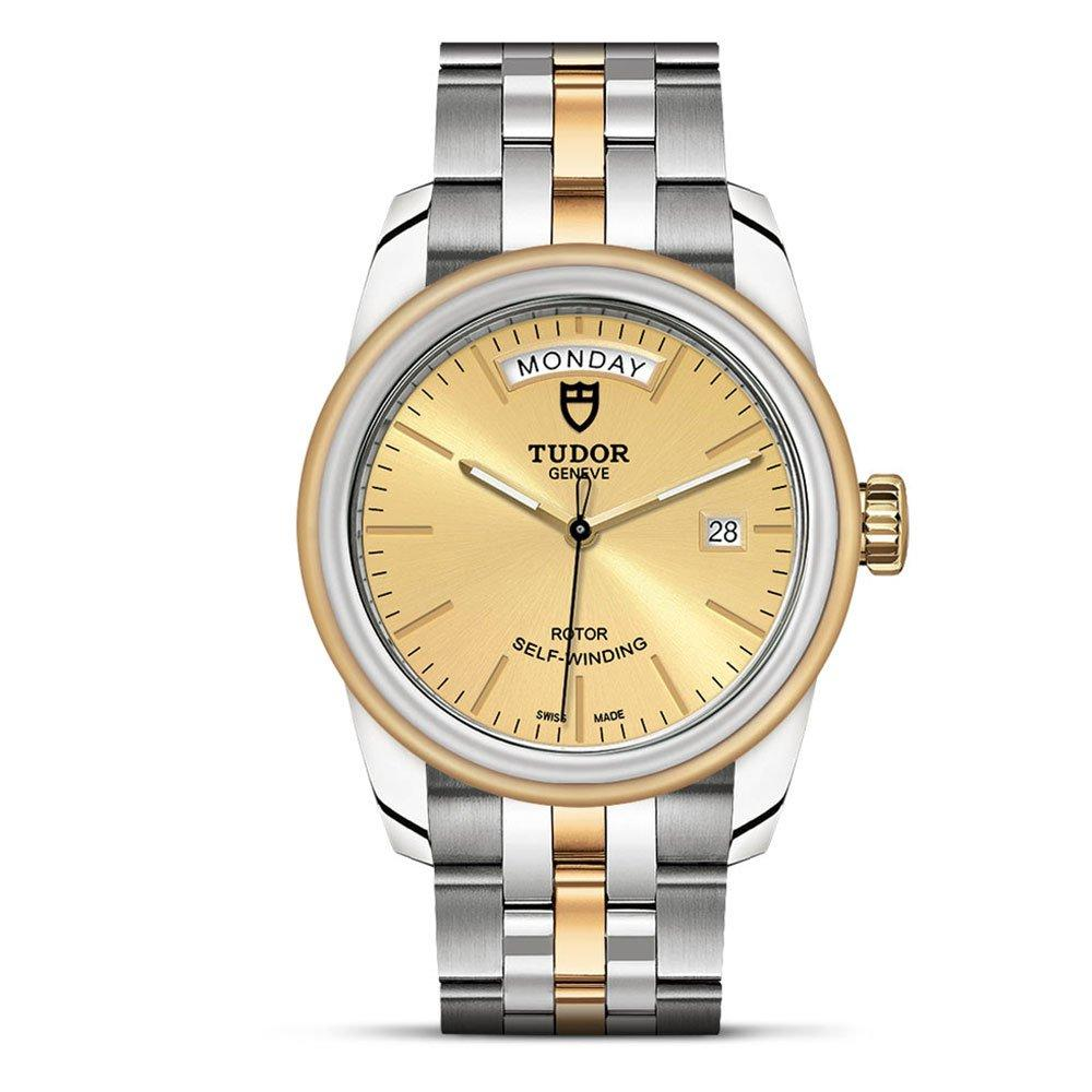 Tudor Glamour Date & Day 18ct Gold and Stainless Steel Men's Watch