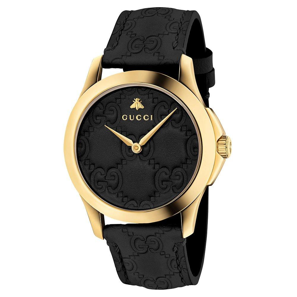 Gucci G-Timeless Gold PVD Leather Ladies Watch