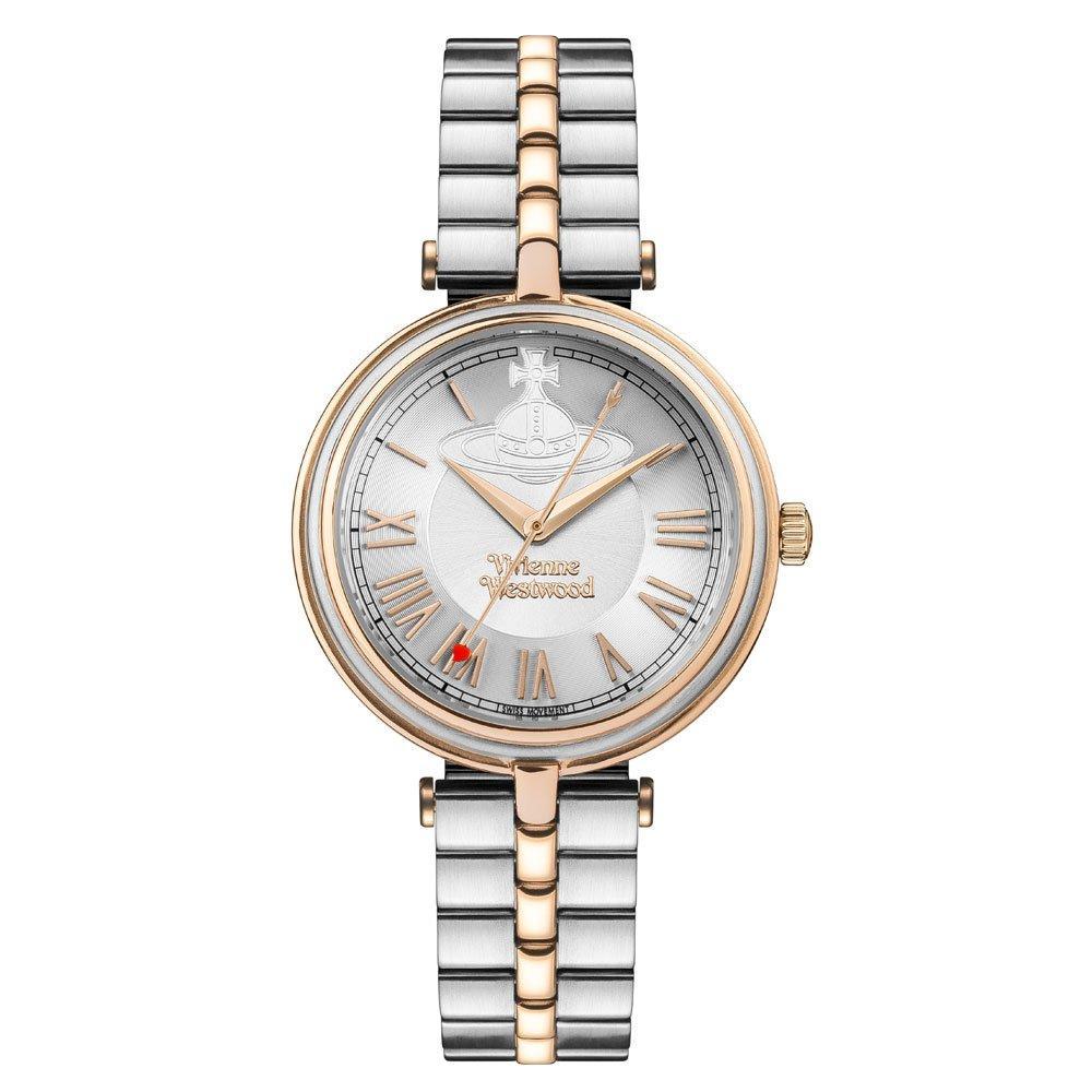 Vivienne Westwood Farringdon Gold Tone and Stainless Steel Ladies Watch