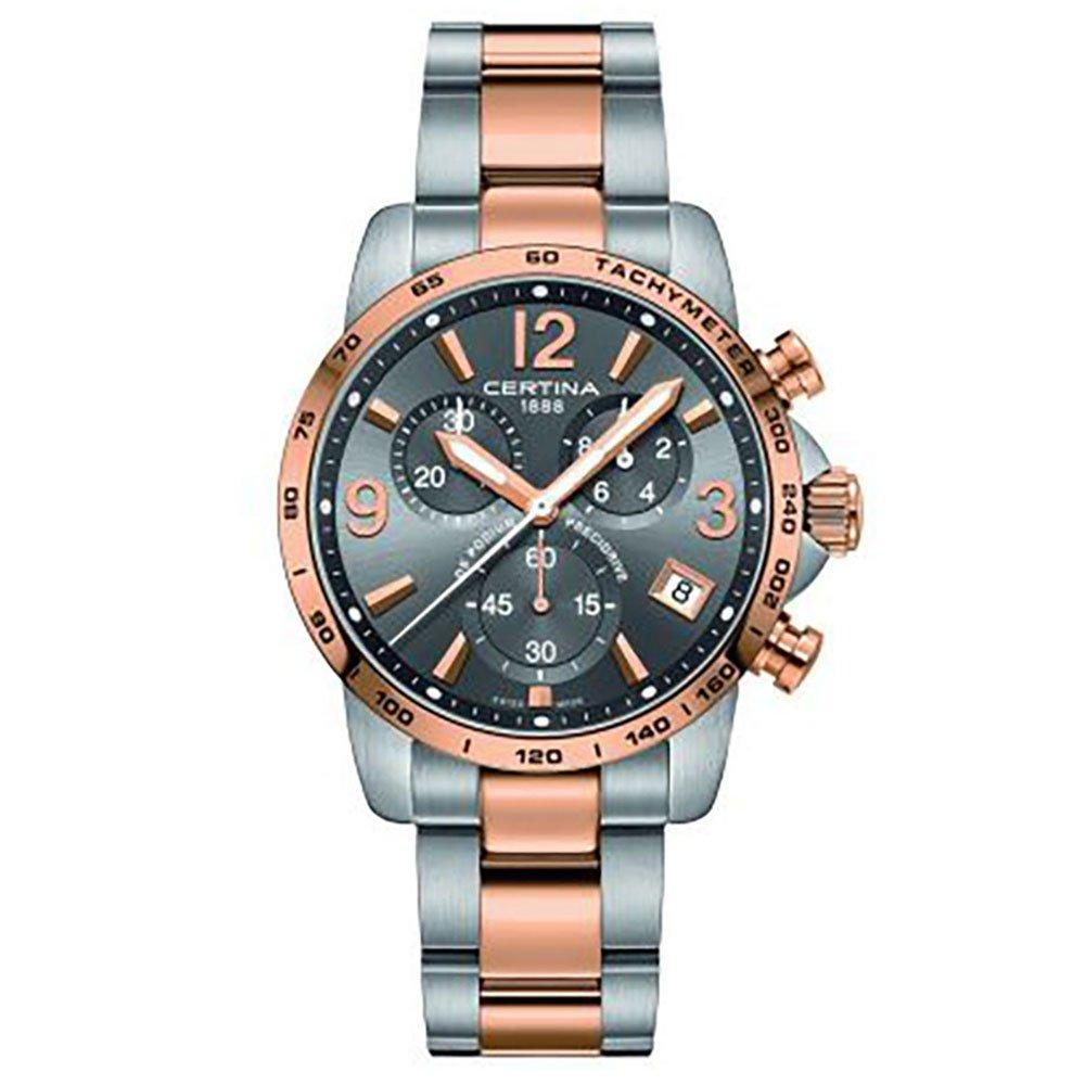 Certina DS Podium Rose Gold Plated and Stainless Steel Chronograph Men's Watch