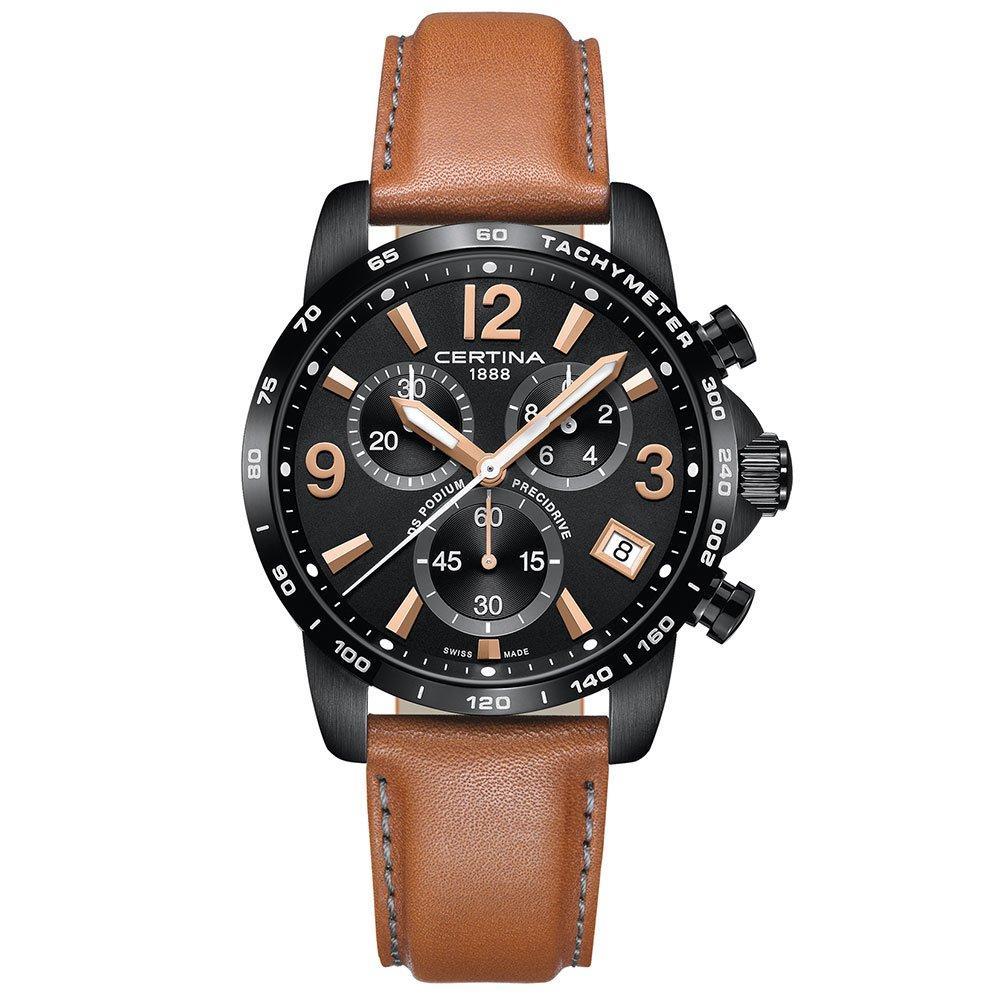 Certina DS Podium Black Ion Plated Chronograph Men's Watch