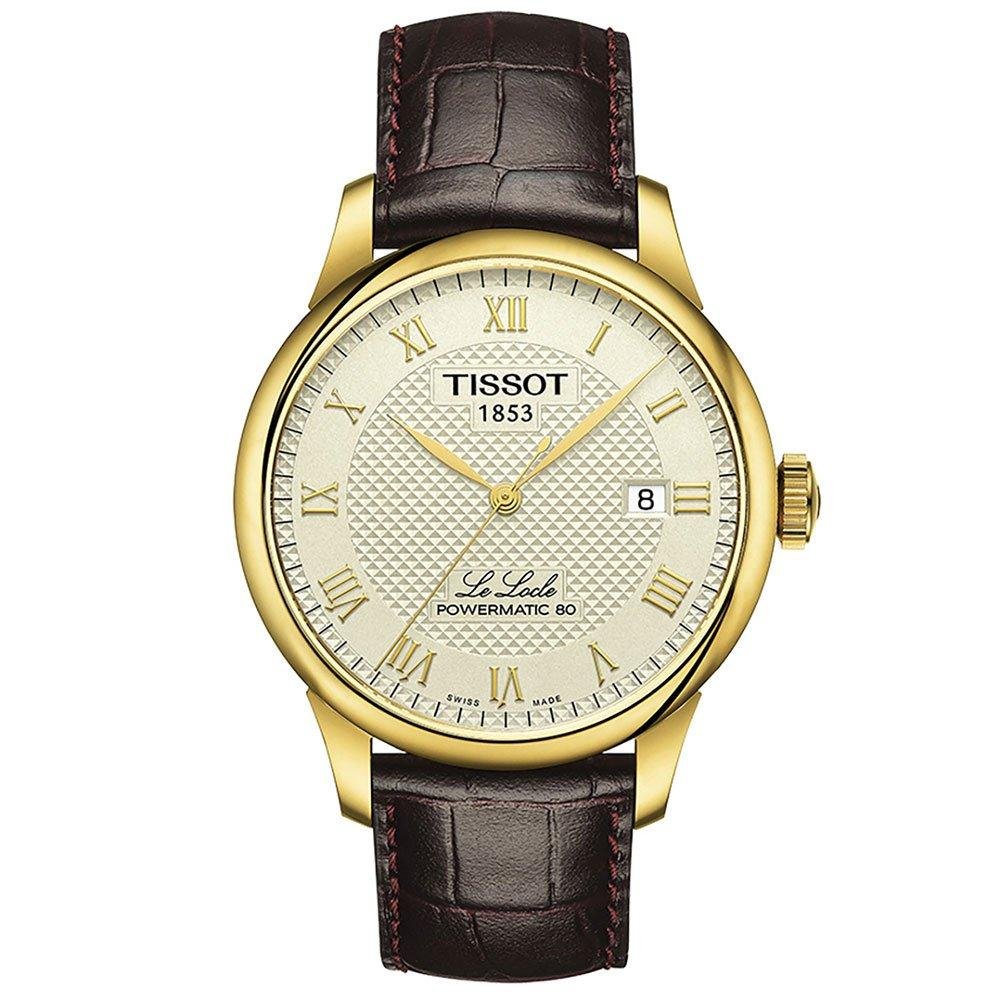 Tissot Le Locle Powermatic 80 Gold Plated Automatic Men's Watch