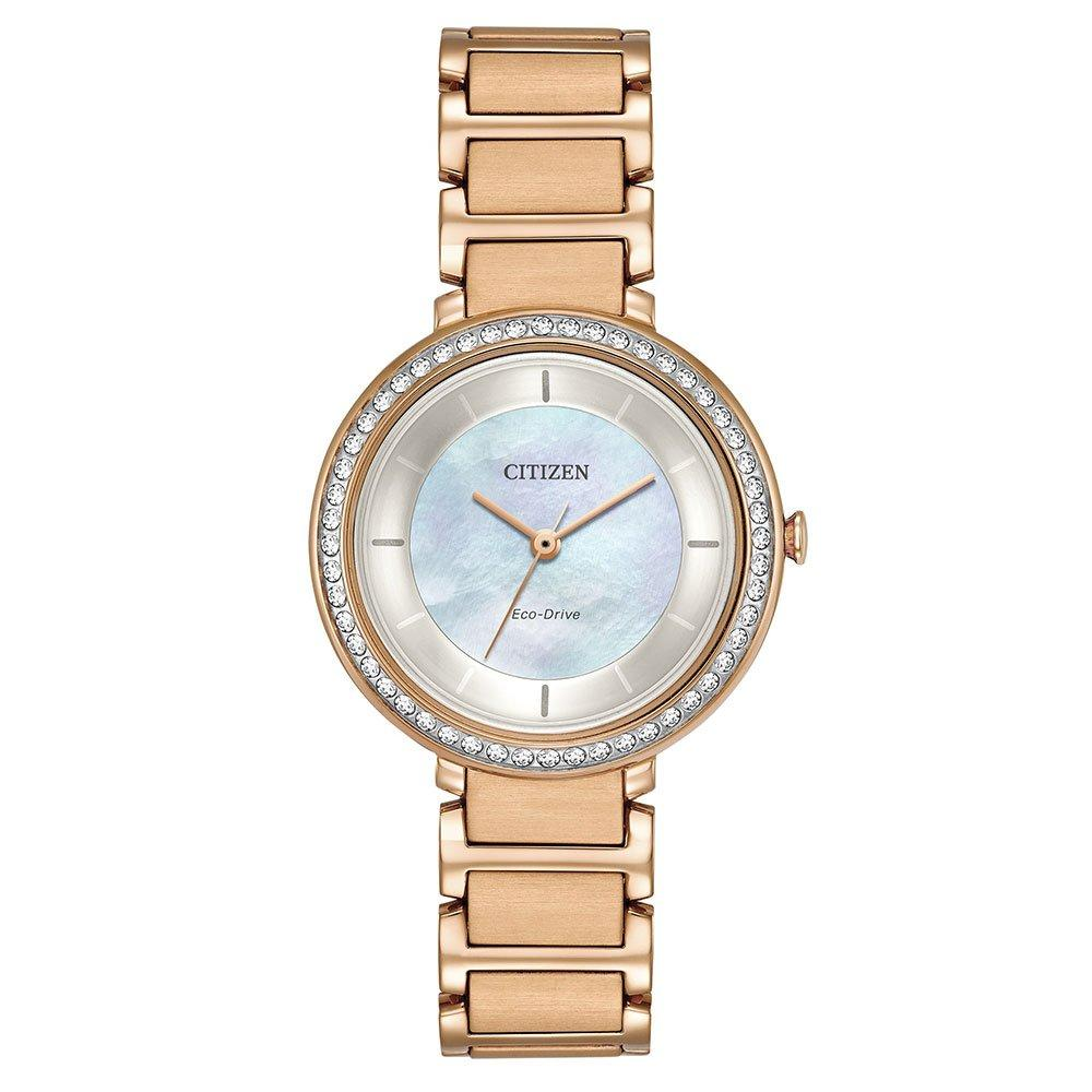 Citizen Silhouette Eco-Drive Rose Gold Tone Ladies Watch