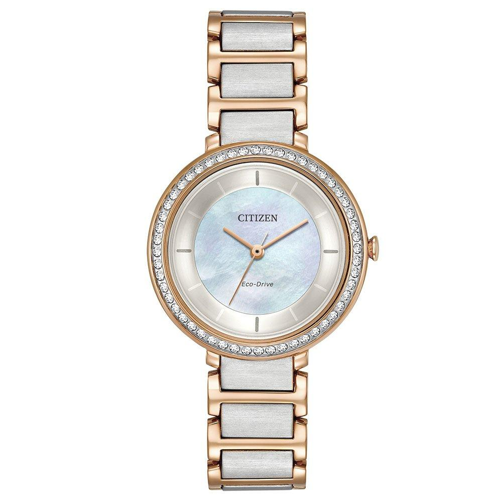 Citizen Silhouette Eco-Drive Rose Gold Tone and Stainless Steel Ladies Watch