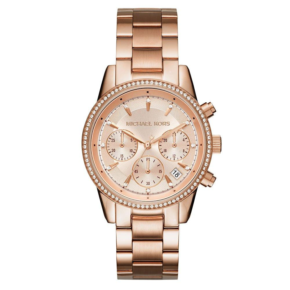 Michael Kors Ritz Rose Gold Tone Ladies Watch