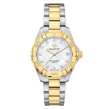 TAG Heuer Aquaracer Stainless Steel and Gold Plated Ladies Watch
