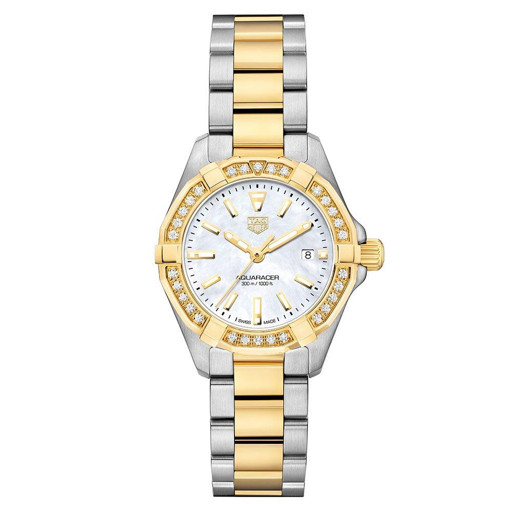TAG Heuer Aquaracer Stainless Steel and Gold Plated Diamond Ladies Watch