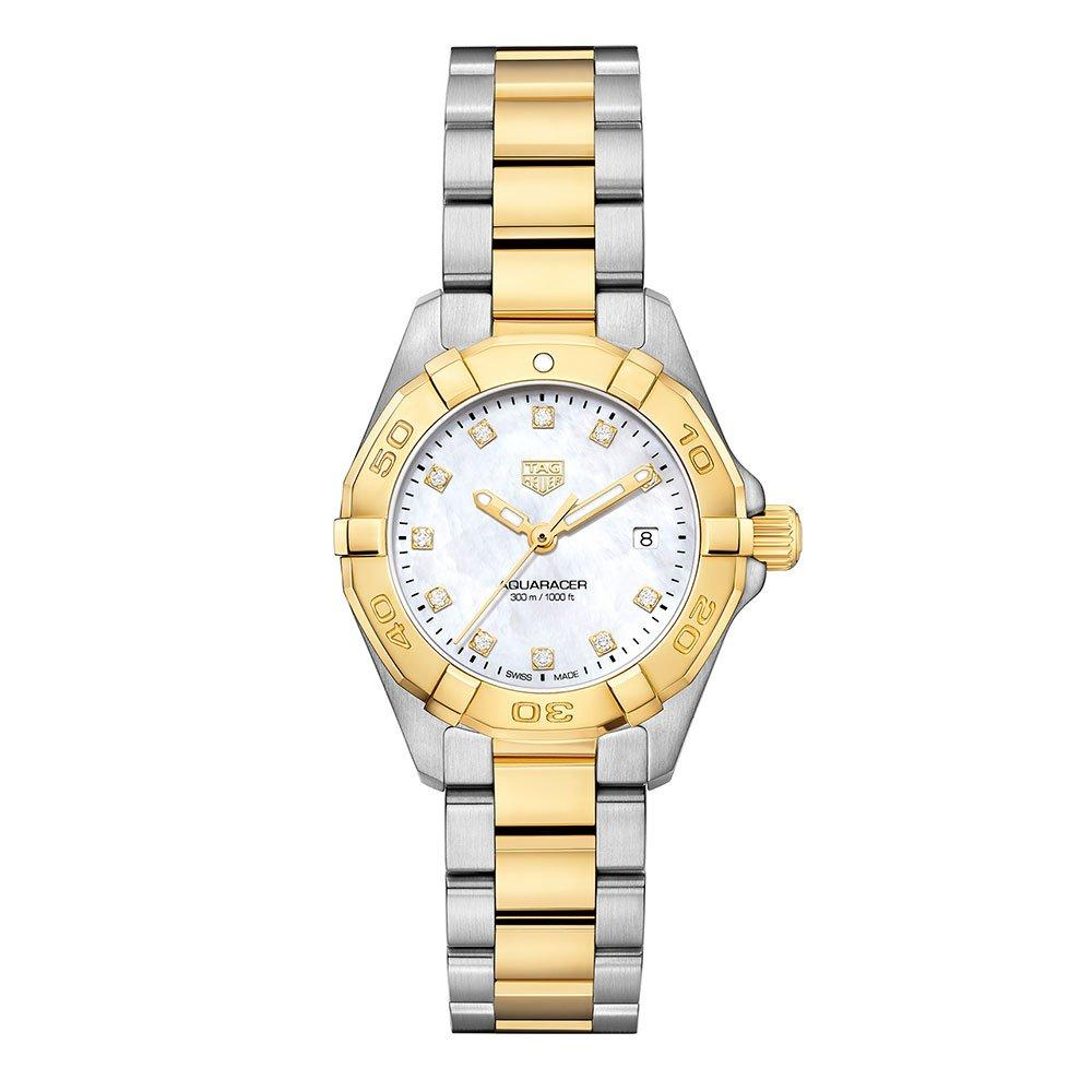 TAG Heuer Aquaracer Gold Plated and Stainless Steel Diamond Ladies Watch