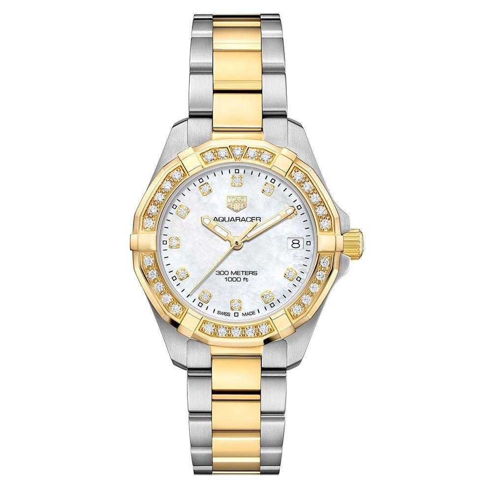 TAG Heuer Aquaracer 18ct Gold and Stainless Steel Diamond Ladies Watch