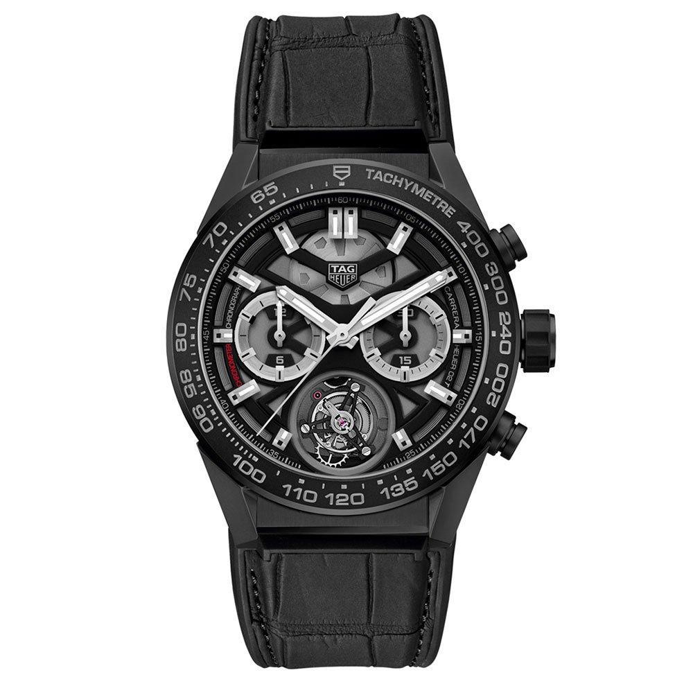TAG Heuer Carrera Calibre Heuer 02 Tourbillon Ceramic Chronograph Men's Watch