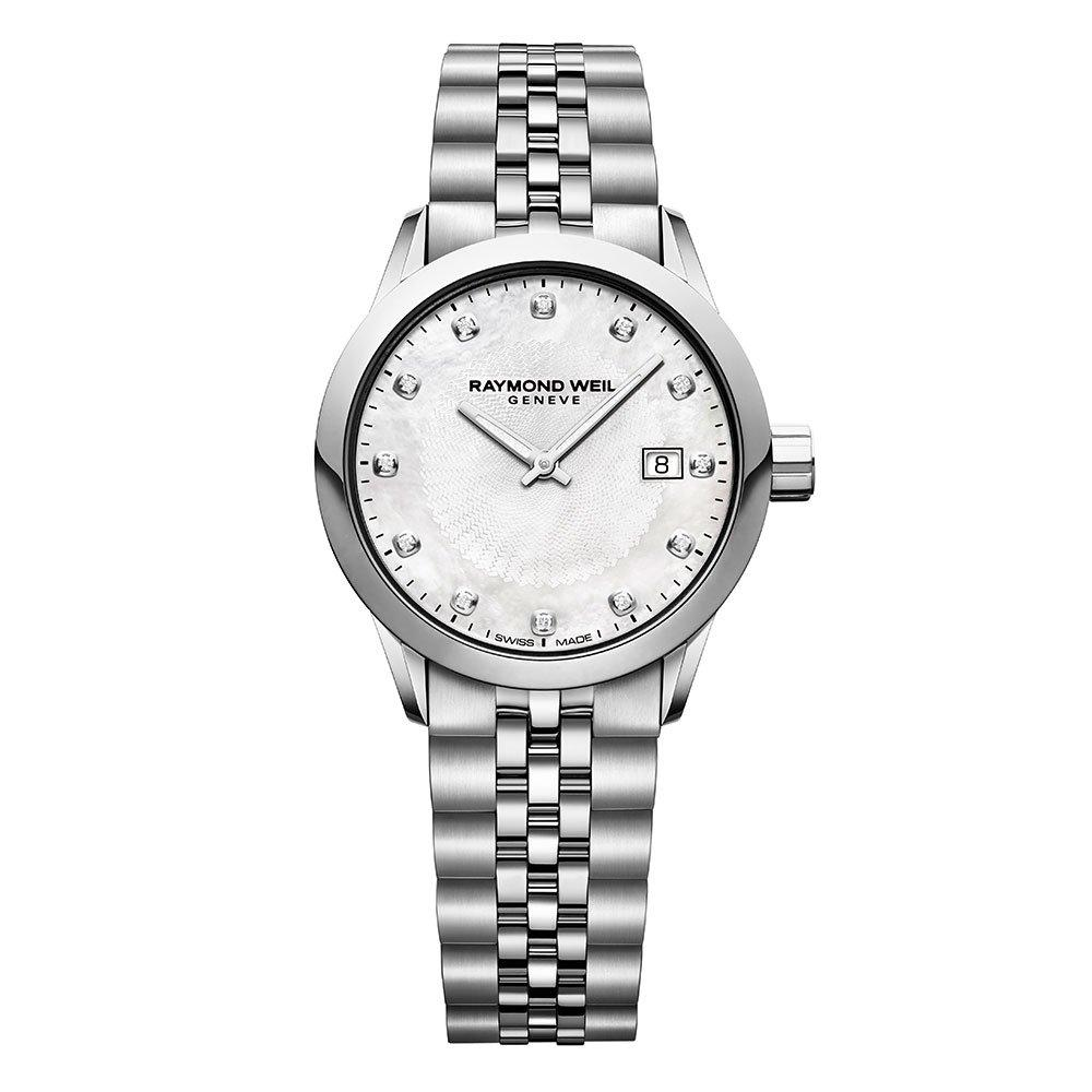 Raymond Weil Freelancer Mother of Pearl Diamond Ladies Watch